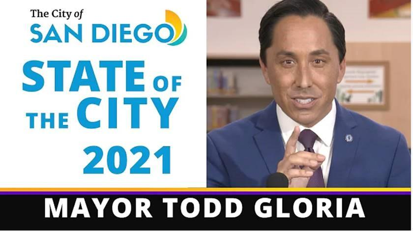 San Diego Mayor Todd Gloria state of the city remarks.