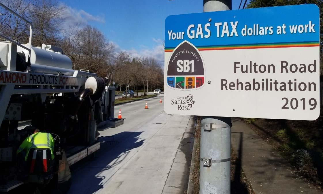 "The city of Santa Rosa's ""Fulton Road Reconstruction"" project repaired approximately 3,200 lineal feet of 4-lane principal arterial pavement and associated bike lanes."