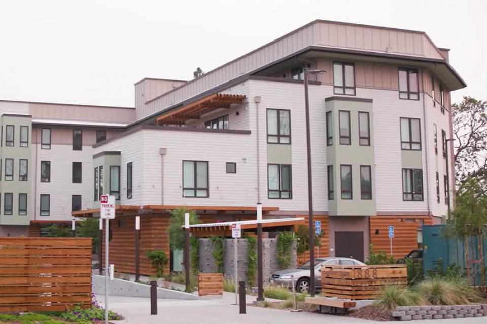 Exterior view of St. Paul's Commons in Walnut Creek, CA.